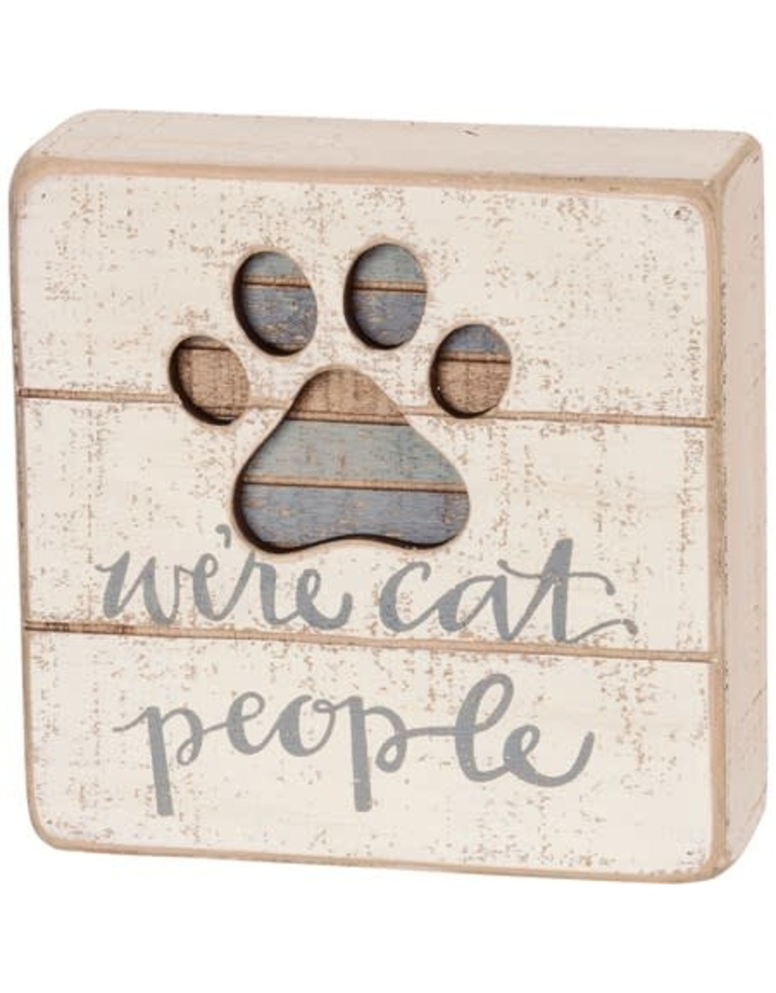 PRIMITIVES BY KATHY PET LOVER BLOCK SIGNS CAT PEOPLE