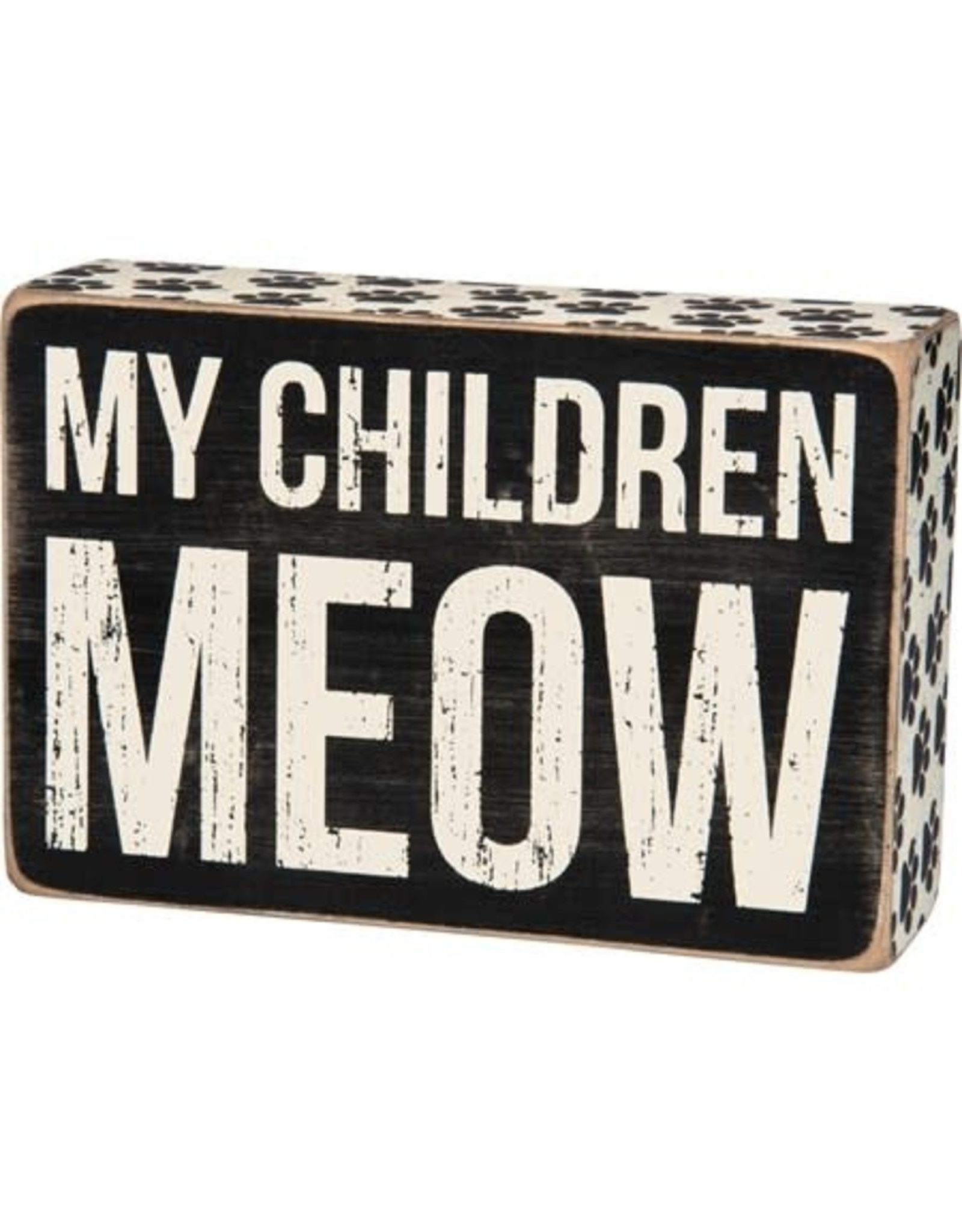 PRIMITIVES BY KATHY PET LOVER BLOCK SIGNS MY CHILDREN MEOW