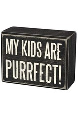 PRIMITIVES BY KATHY PET LOVER BLOCK SIGNS KIDS ARE PURRFECT