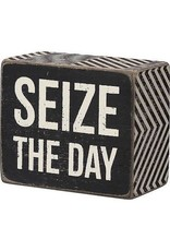 PRIMITIVES BY KATHY ATTITUDE BLOCK SIGNS SEIZE THE DAY