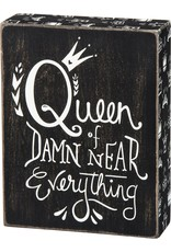 PRIMITIVES BY KATHY ATTITUDE BLOCK SIGNS QUEEN OF EVERYTHING