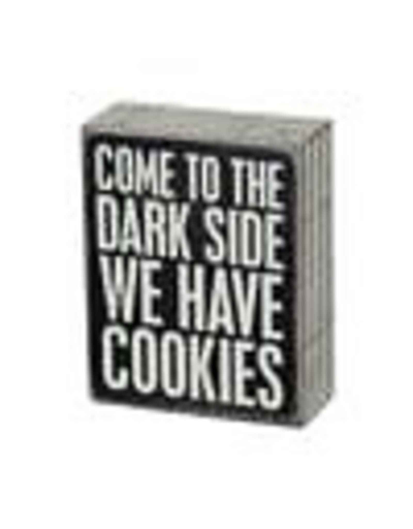 PRIMITIVES BY KATHY ATTITUDE BLOCK SIGNS COME TO THE DARK SIDE COOKIES