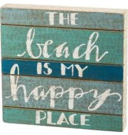 PRIMITIVES BY KATHY BEACH LOVER BLOCK SIGNS THE BEACH IS MY HAPPY PLACE