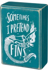 PRIMITIVES BY KATHY BEACH LOVER BLOCK SIGNS PRETEND I HAVE FINS