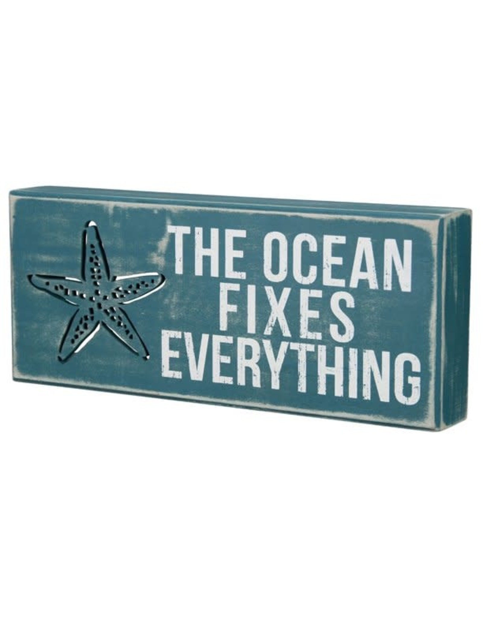 PRIMITIVES BY KATHY BEACH LOVER BLOCK SIGNS THE OCEAN FIXES EVERYTHING