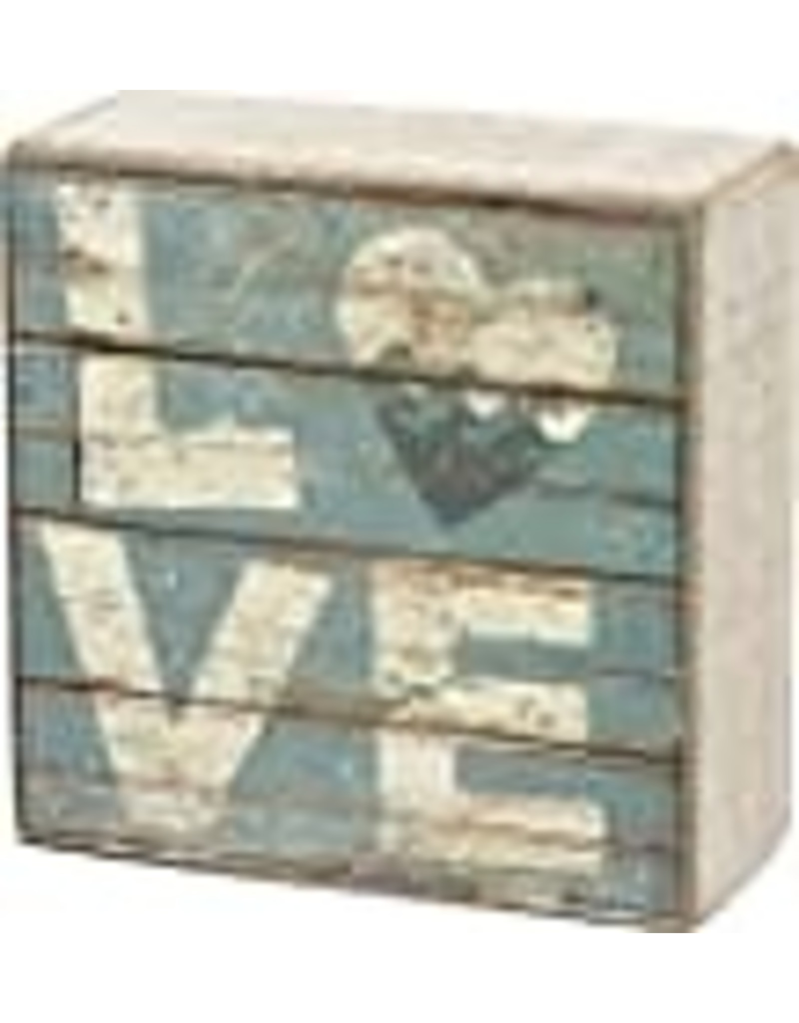 PRIMITIVES BY KATHY BEACH LOVER BLOCK SIGNS LOVE WAVES