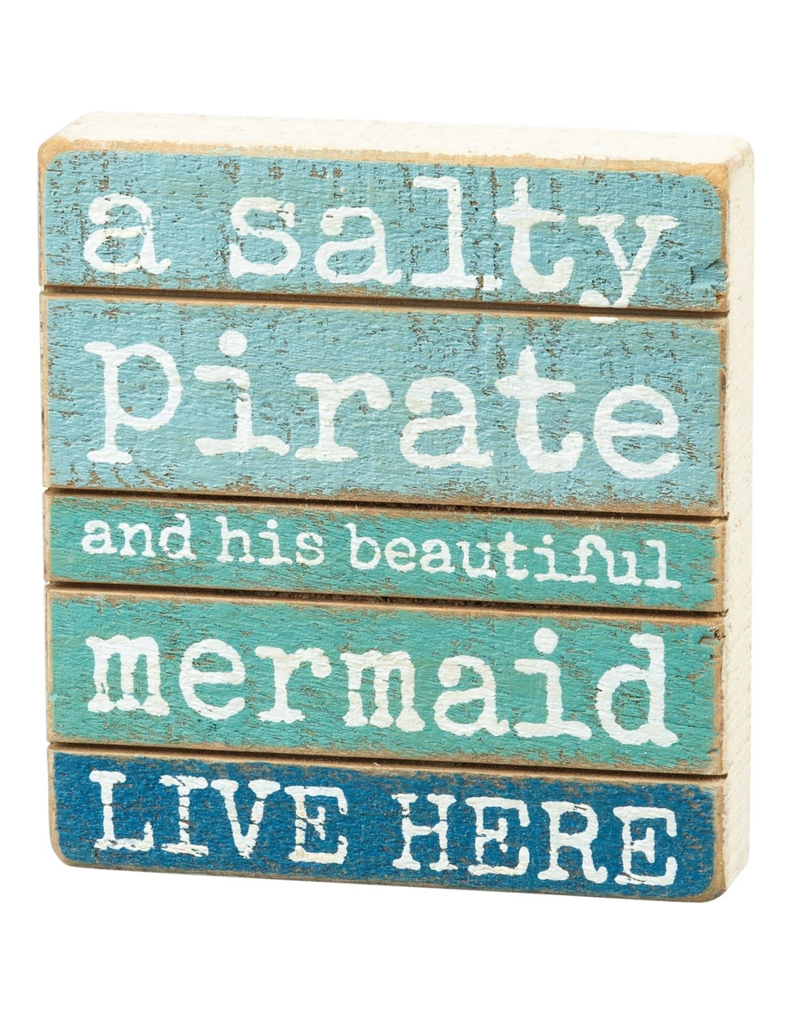 PRIMITIVES BY KATHY BEACH LOVER BLOCK SIGNS SALTY PIRATE