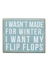 PRIMITIVES BY KATHY BEACH LOVER BLOCK SIGNS NOT MADE FOR WINTER