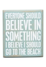 PRIMITIVES BY KATHY BEACH LOVER BLOCK SIGNS BELIEVE I'LL GO TO THE BEACH