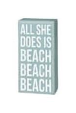 PRIMITIVES BY KATHY BEACH LOVER BLOCK SIGNS BEACH BEACH BEACH