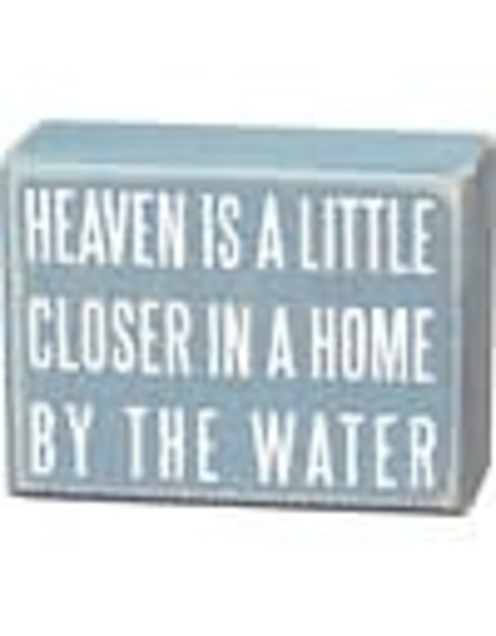 PRIMITIVES BY KATHY BEACH LOVER BLOCK SIGNS HEAVEN IS CLOSER BY THE WATER