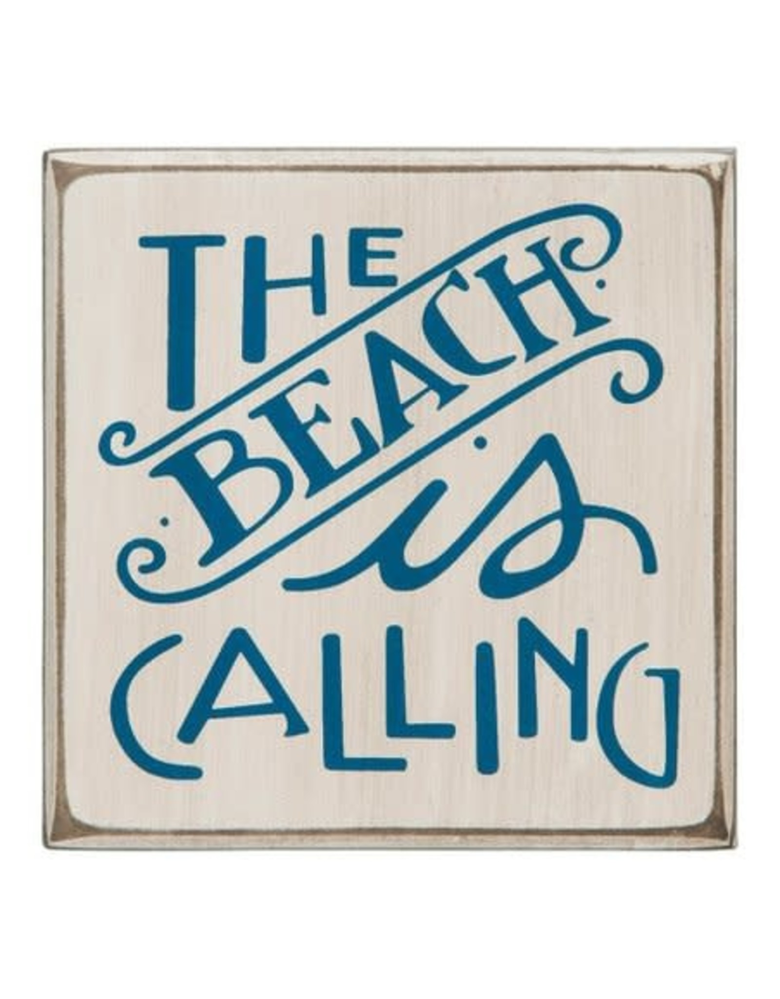PRIMITIVES BY KATHY BEACH LOVER BLOCK SIGNS THE BEACH IS CALLING
