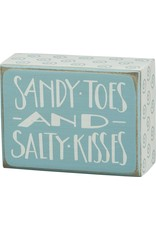 PRIMITIVES BY KATHY BEACH LOVER BLOCK SIGNS SANDY TOES AND SALTY KISSES