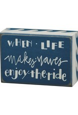 PRIMITIVES BY KATHY BEACH LOVER BLOCK SIGNS LIFE MAKES WAVES ENJOY THE RIDE