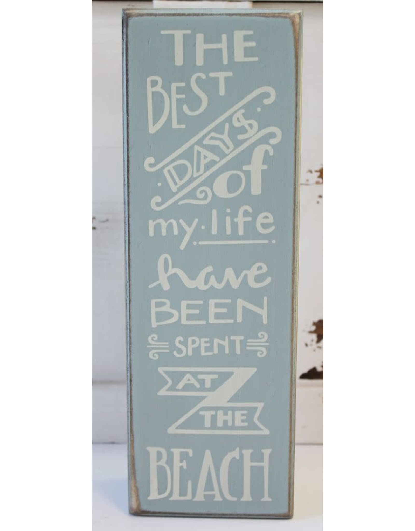 PRIMITIVES BY KATHY BEACH LOVER BLOCK SIGNS BEST DAYS OF MY LIFE AT THE BEACH