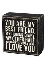 PRIMITIVES BY KATHY LOVED ONES BLOCK SIGNS MY BEST FRIEND MY OTHER HALF