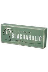 PRIMITIVES BY KATHY BEACH LOVER BLOCK SIGNS BEACHAHOLIC