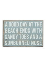 PRIMITIVES BY KATHY BEACH LOVER BLOCK SIGNS GOOD DAY ENDS WITH SANDY TOES