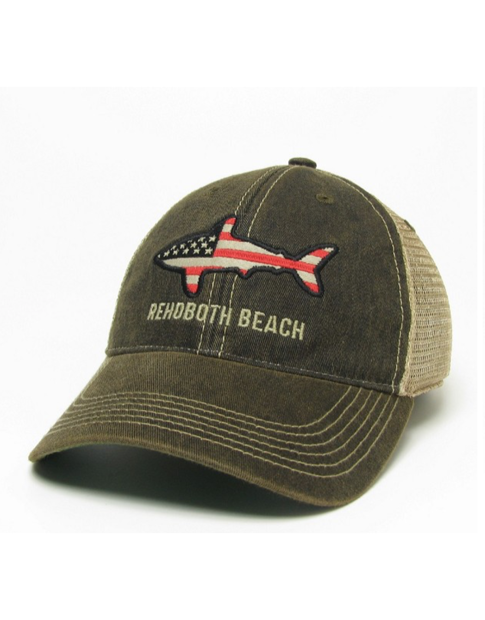 LEGACY ATHLETICS LEGACY OLD FAVORITE TRUCKER HAT BLACK FLAG SHARK