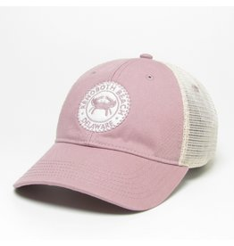 LEGACY ATHLETICS LEGACY RELAXED TWILL TRUCKER HAT DUSTY ROSE CRAB COIN