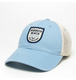 LEGACY ATHLETICS LEGACY RELAXED TWILL TRUCKER HAT LIGHT BLUE WAVE CREST