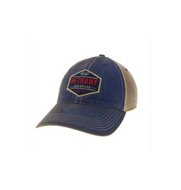 LEGACY ATHLETICS BETHANY LEGACY OLD FAVORITE TRUCKER HAT BLUE ACADEMY