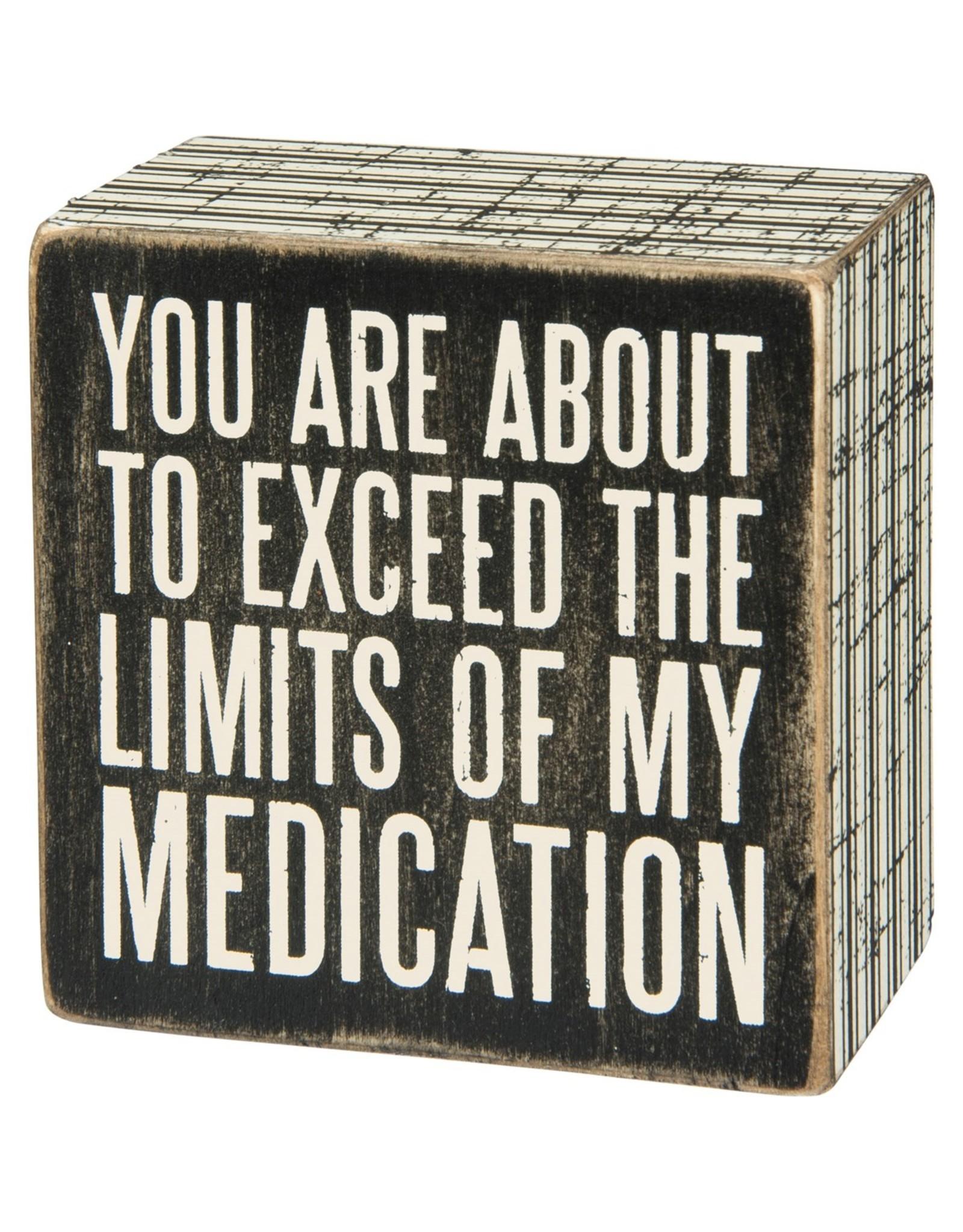 PRIMITIVES BY KATHY ATTITUDE BLOCK SIGNS MEDICATION