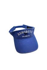 REHOBOTH LIFESTYLE CLASSIC COTTON BEACH VISOR ADJUSTABLE OS FLO BLUE DOG
