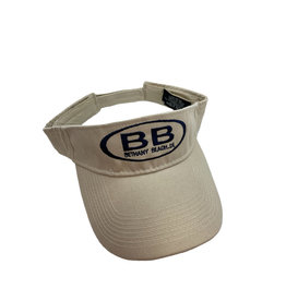 FIRST & ANCHOR BETHANY CLASSIC COTTON BEACH VISOR ADJUSTABLE OS IVORY BB