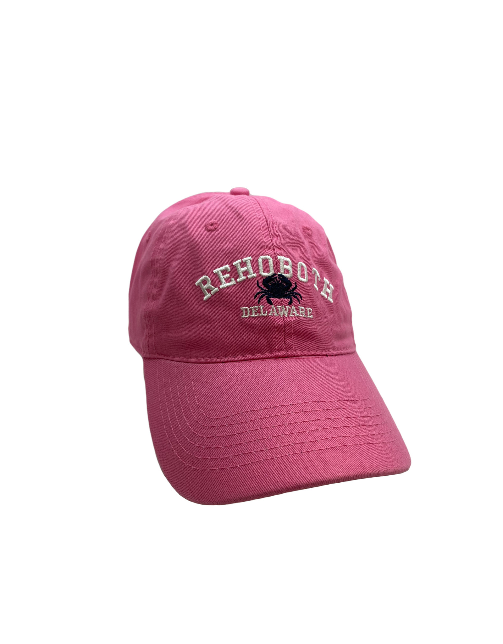 REHOBOTH LIFESTYLE CLASSIC COTTON BEACH HAT ADJUSTABLE OS PINK CRAB