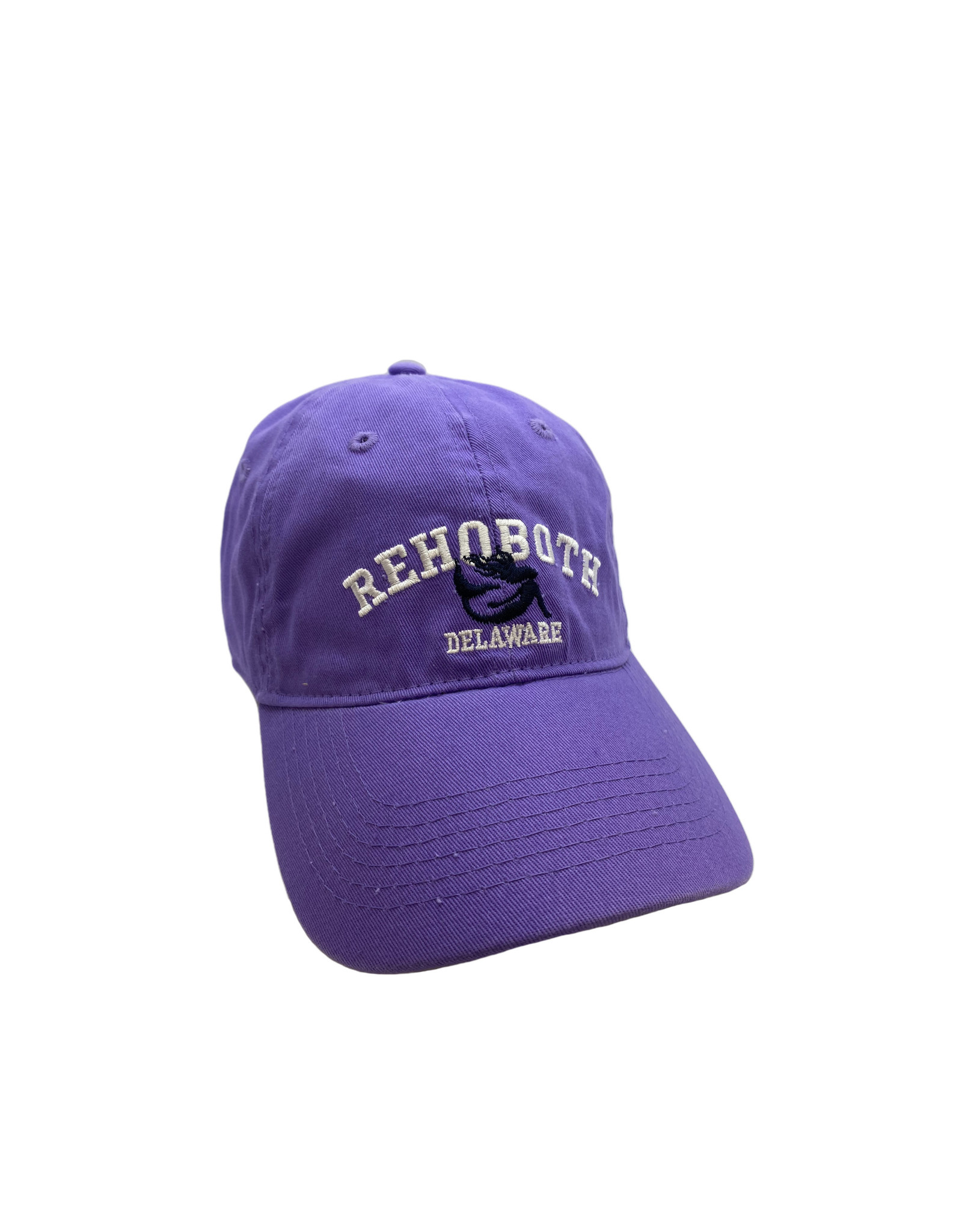 REHOBOTH LIFESTYLE CLASSIC COTTON BEACH HAT ADJUSTABLE OS VIOLET MERMAID