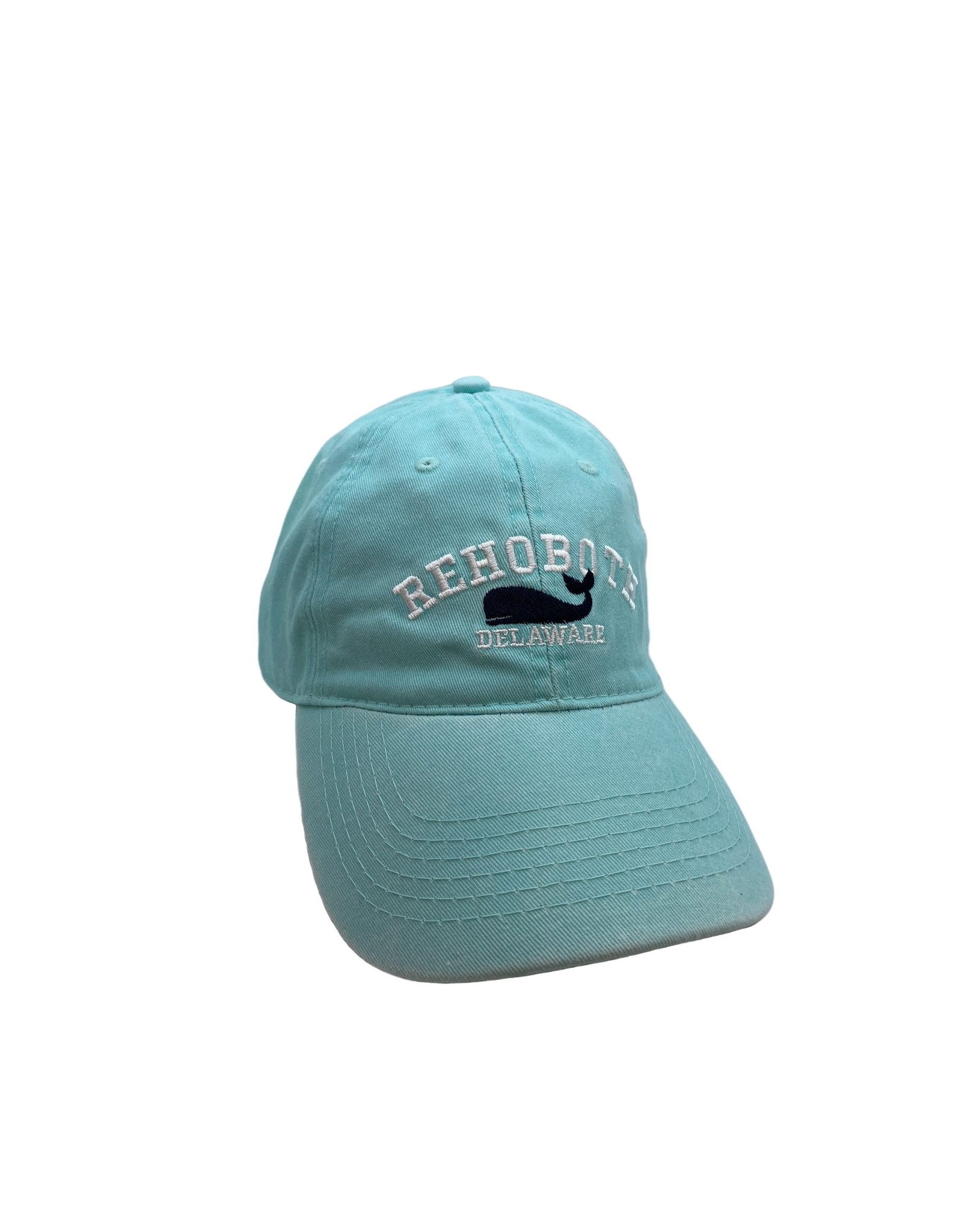 REHOBOTH LIFESTYLE CLASSIC COTTON BEACH HAT ADJUSTABLE OS MINT WHALE