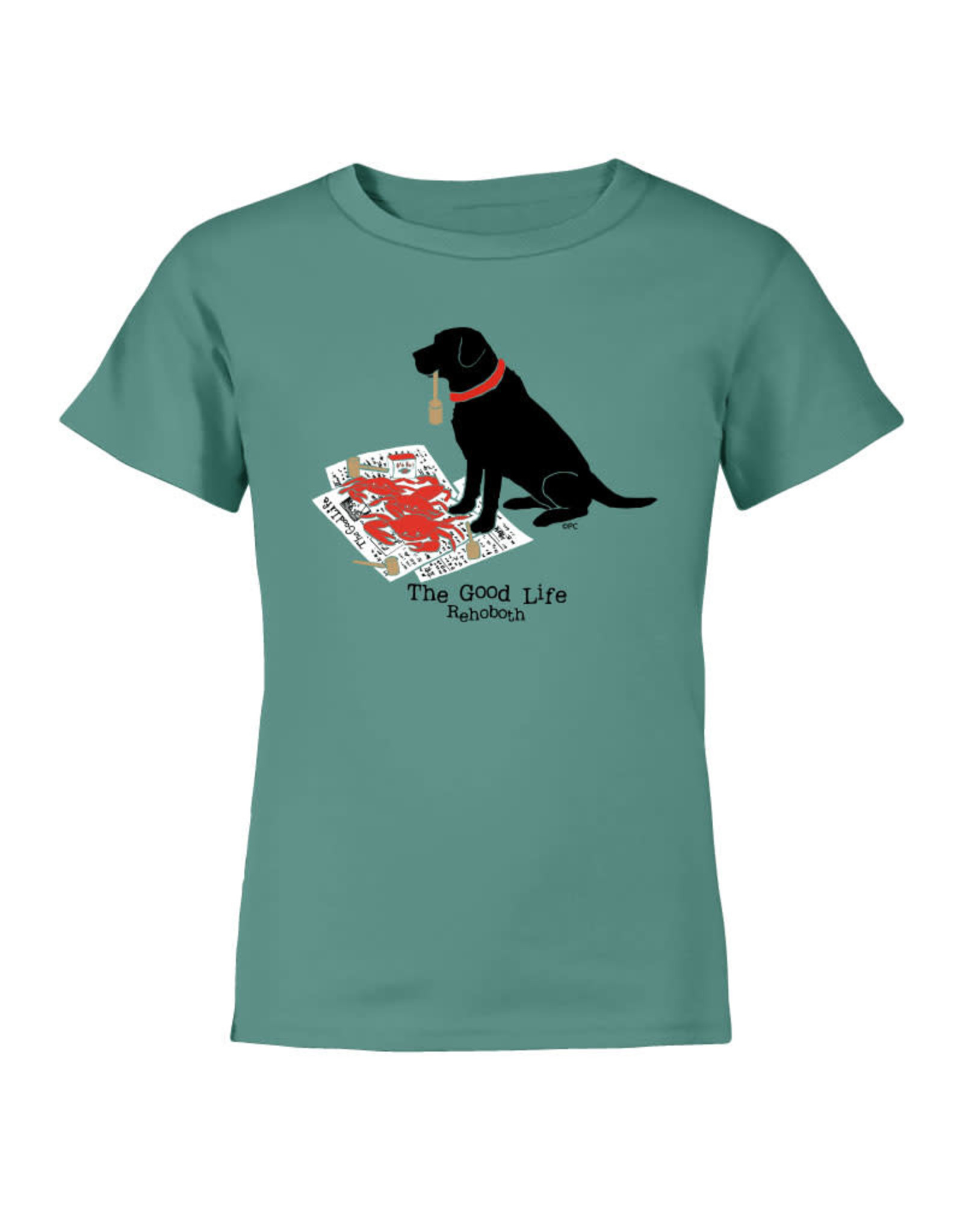THE GOOD LIFE CRACKIN CRABS LAB YOUTH SS TEE
