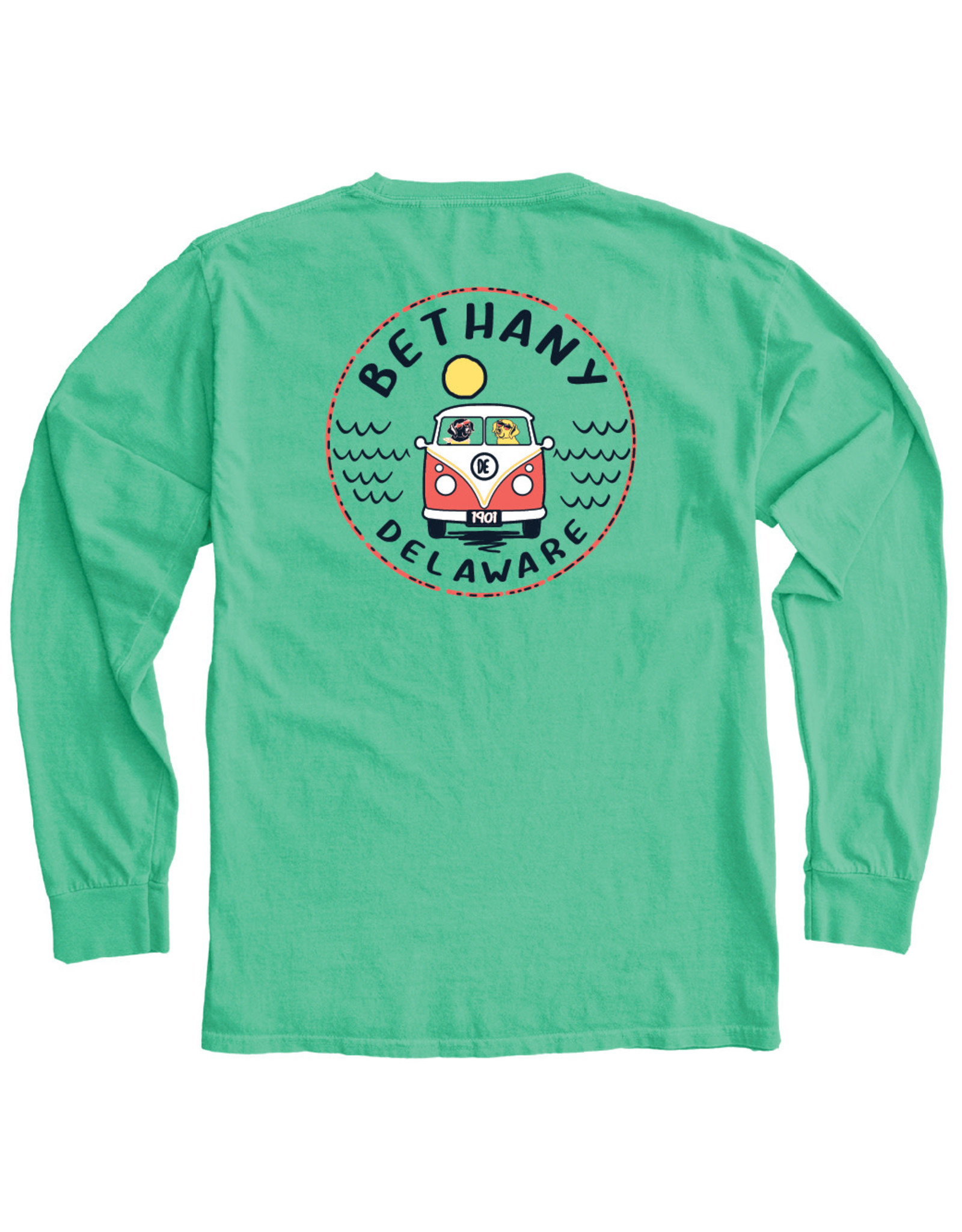 BLUE 84 BETHANY CONCURRENCE BUS/DOGS LS TEE