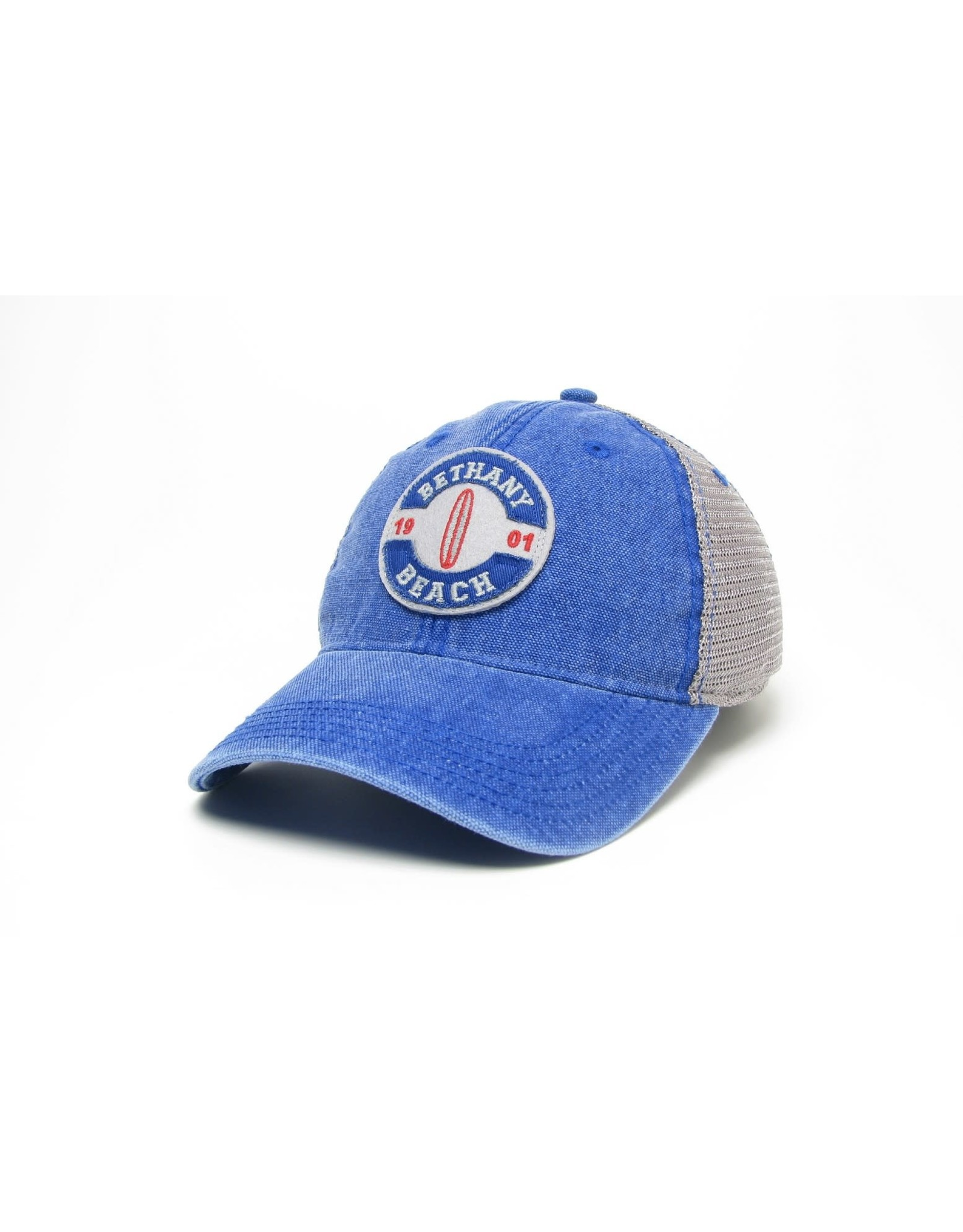 LEGACY ATHLETICS BETHANY LEGACY OLD FAVORITE TRUCKER HAT ROYAL BLUE SURFBOARD