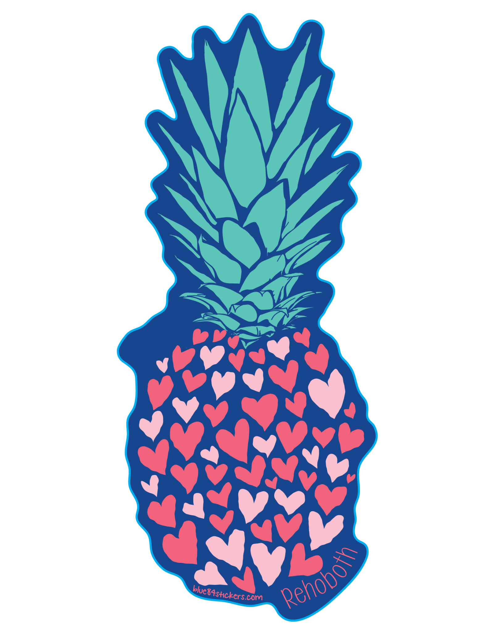 BLUE 84 ACRYLIC MAGNET RECLAIMING PINEAPPLE