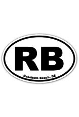 REHOBOTH LIFESTYLE EURO MAGNET 5.75 x 3.875 OVAL REHOBOTH BEACH