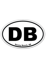 REHOBOTH LIFESTYLE EURO STICKER 5.75 x 3.875 OVAL DEWEY BEACH