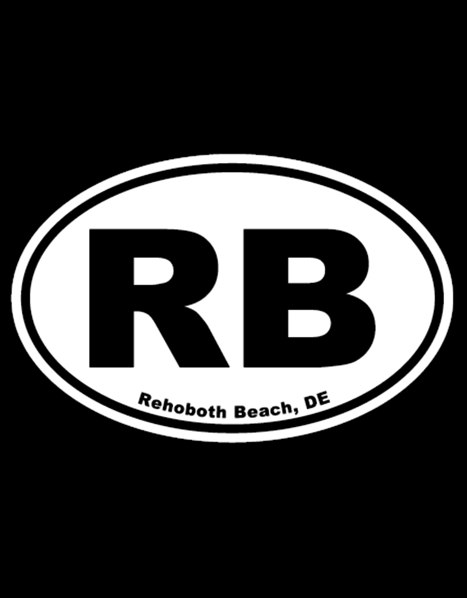 REHOBOTH LIFESTYLE EURO STICKER 5.75 x 3.875 OVAL REHOBOTH BEACH