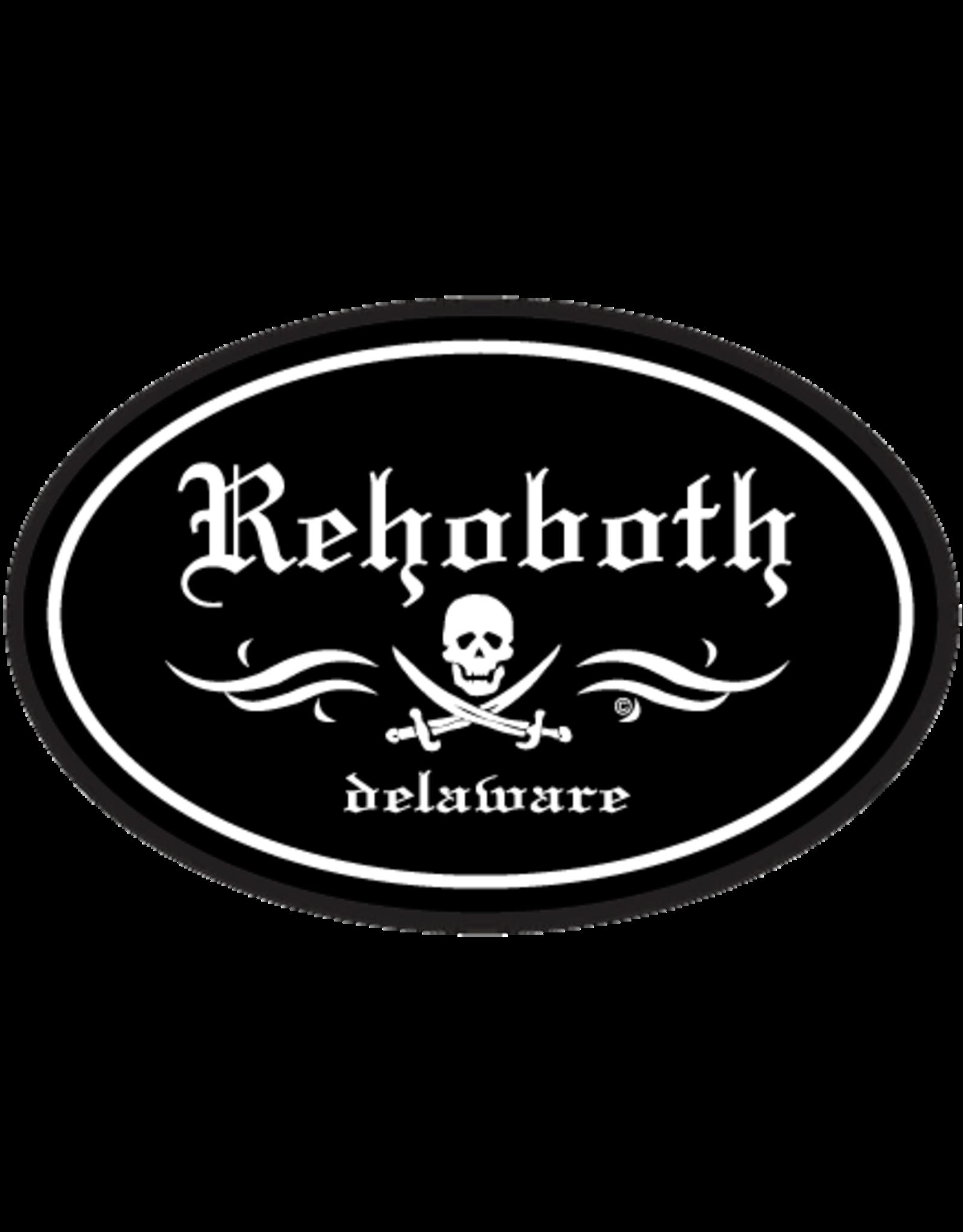 REHOBOTH LIFESTYLE EURO STICKER 5.75 x 3.875 OVAL REHOBOTH PIRATE BLACK