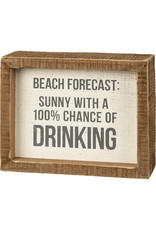 PRIMITIVES BY KATHY ATTITUDE BLOCK SIGNS SUNNY CHANCE OF DRINKING