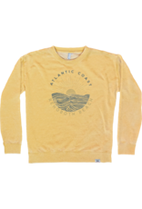 TECHSTYLES WOMENS WEATHERED WAVE CREWNECK
