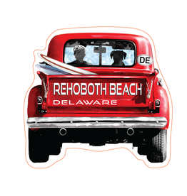 TGT STICKERS ACRYLIC MAGNET OLE RED TRUCK