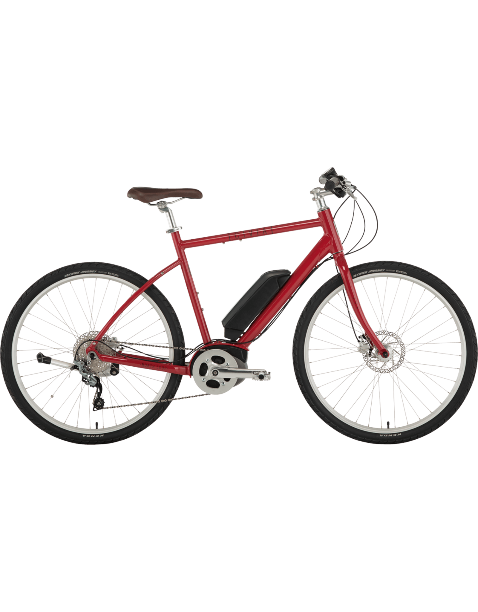 Civia North Loop Ebike - 650b, Aluminum, Red, Medium