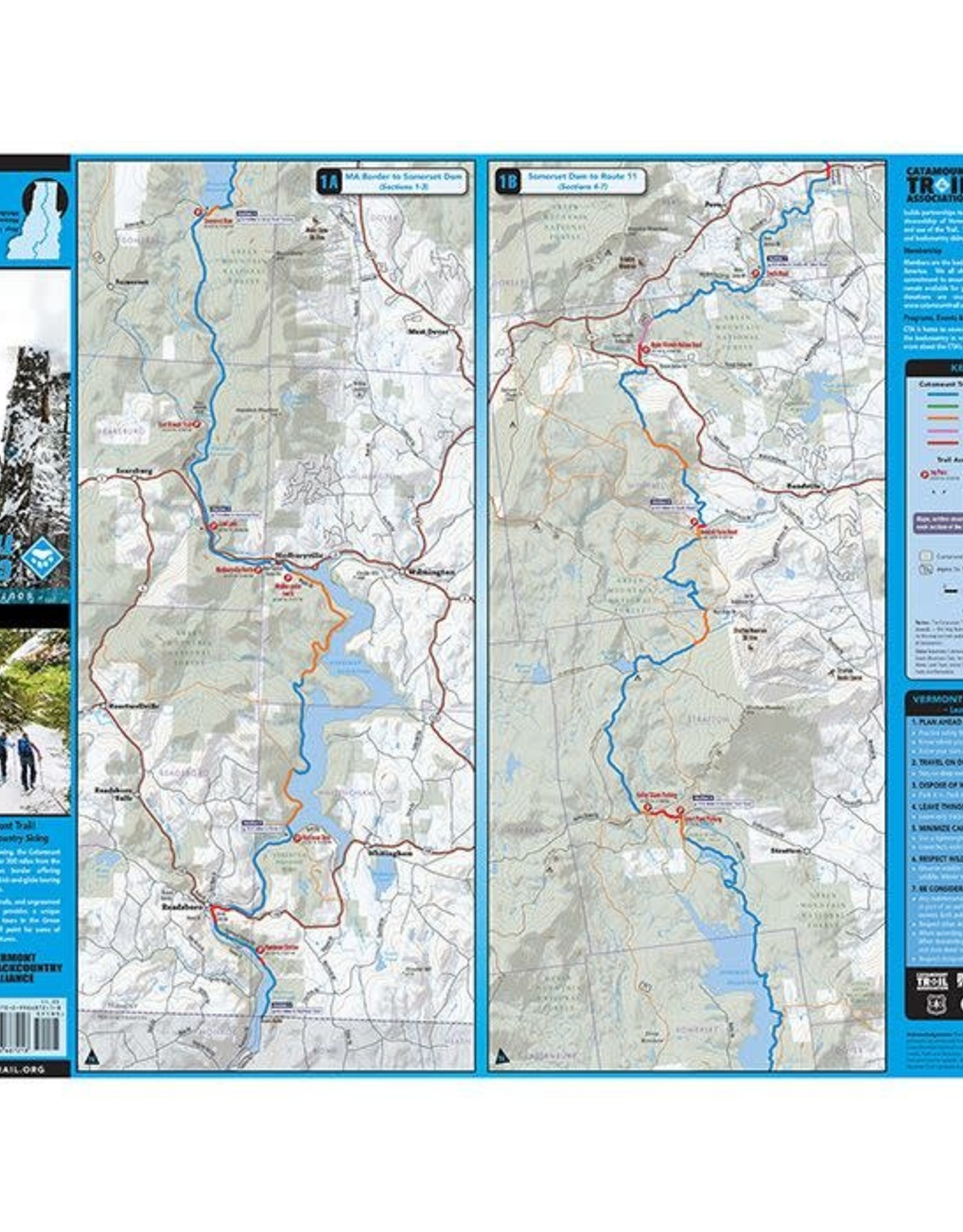 Catamount Trail Map: Southern Vermont