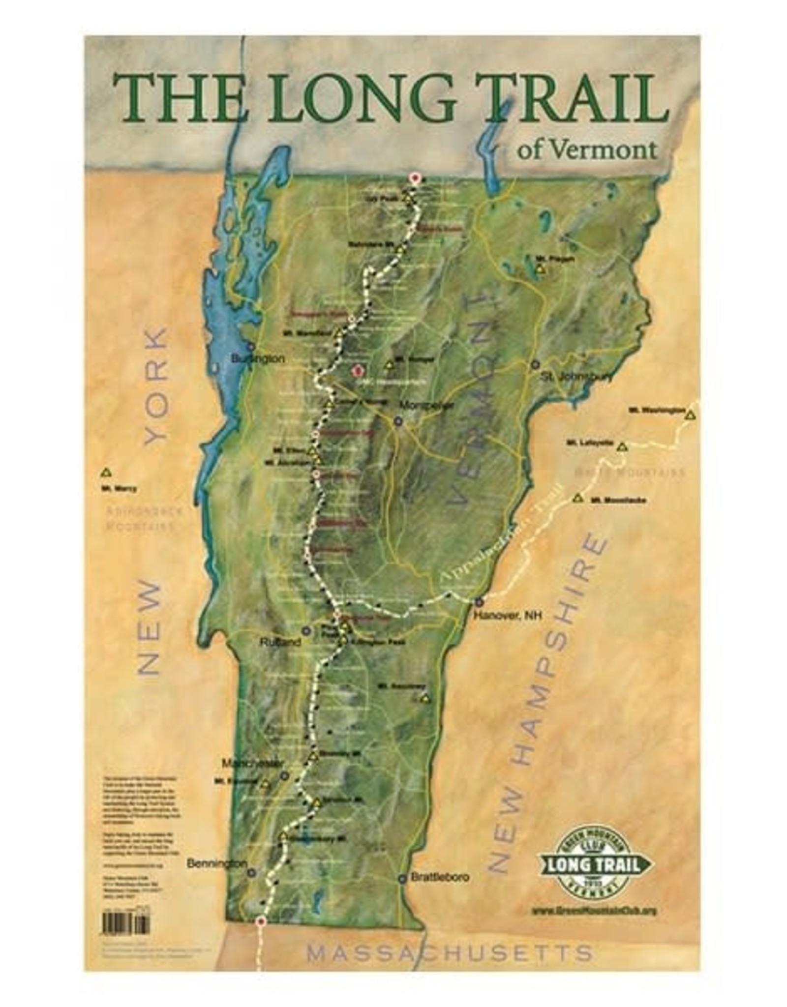 GMC Long Trail Map-Wall Poster