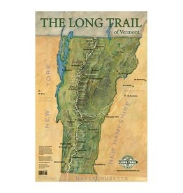 Long Trail Map-Wall Poster