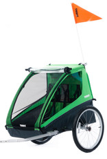 Thule, Cadence2, Green w/ Cycling Kit, 2 Child