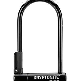 "Kryptonite Kryptonite Keeper U-Lock - 4 x 8"", Keyed, Black, Includes 4' cable and bracket"