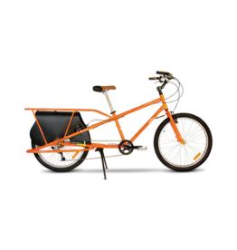 Yuba Mundo Classic Pedal Cargo Bike-Orange